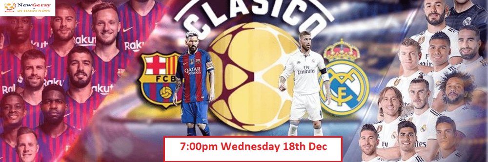 Barcelona vs Real Madrid live stream how to watch El