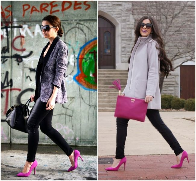9a35c90218667 Tem Jeito    Scarpin Magenta   look   Pinterest   Magenta, Fashion e ...