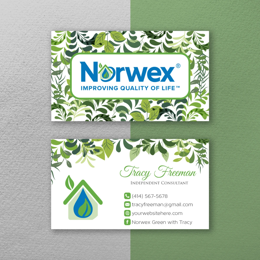 Norwex Business Cards Personalized Norwex Template Nr23 Cleaning Business Cards Custom Business Cards Personal Business Cards