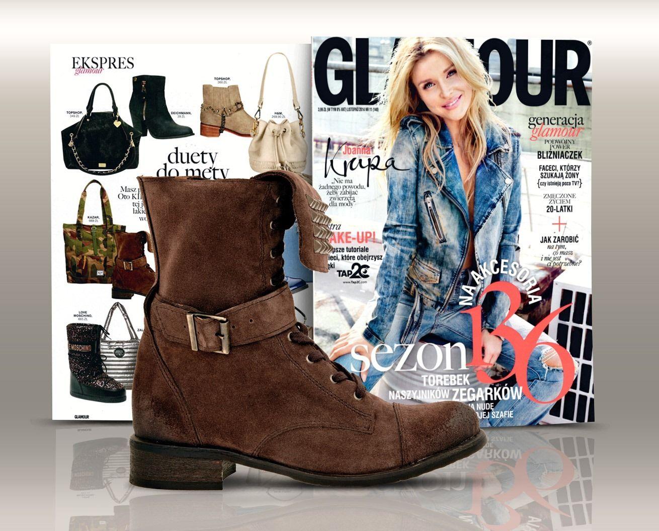 Stylisci Miesiecznika Glamour Prezentuja Jak Dopasowac Buty Do Torebki Brazowe Trzewiki Wojas Zdobione Cwiekami 3604 62 Www Wojas Fashion Biker Boot Boots