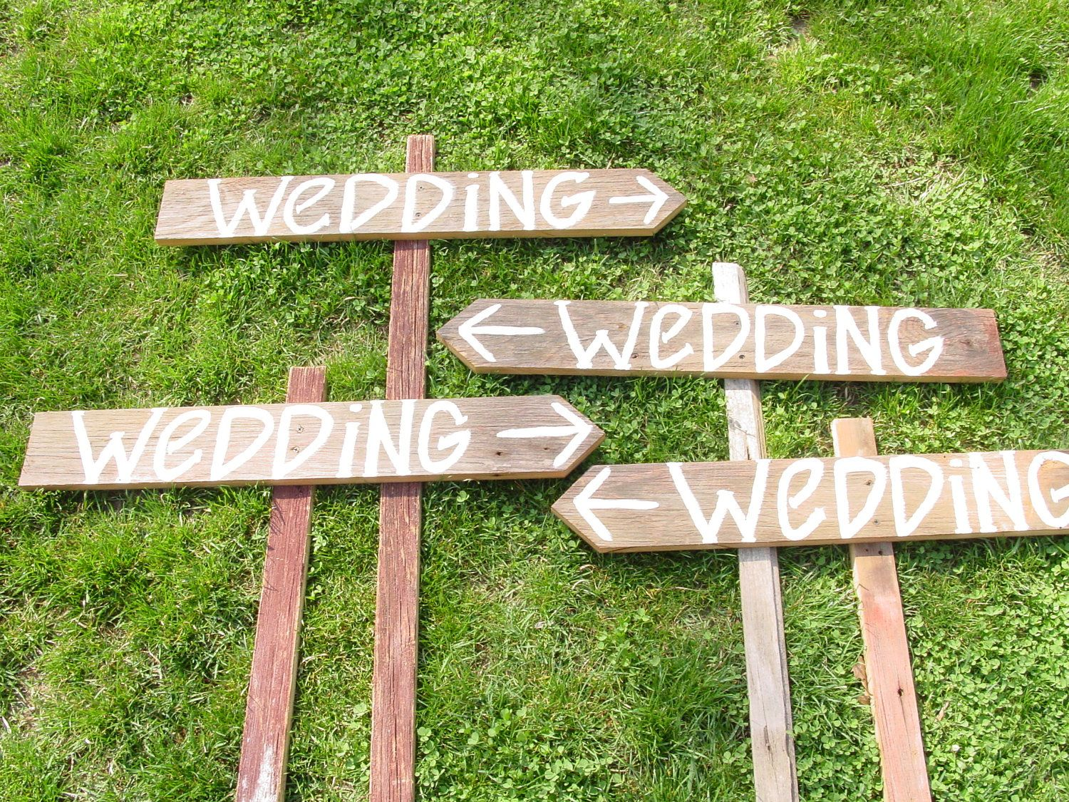 9 Blank Barn Wood Wedding Signs W Stakes Directional