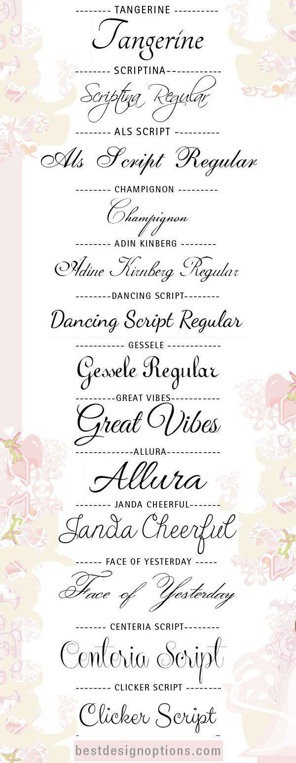 Como criar monogramas lindos para sua festa – Free Calligraphy Fonts for Wedding Invitations