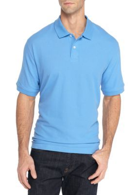 f9315bef9 Saddlebred Men's Big And Tall Short Sleeve Solid Comfort Flex Stretch Pique  Polo - Blue Sail - Xlt