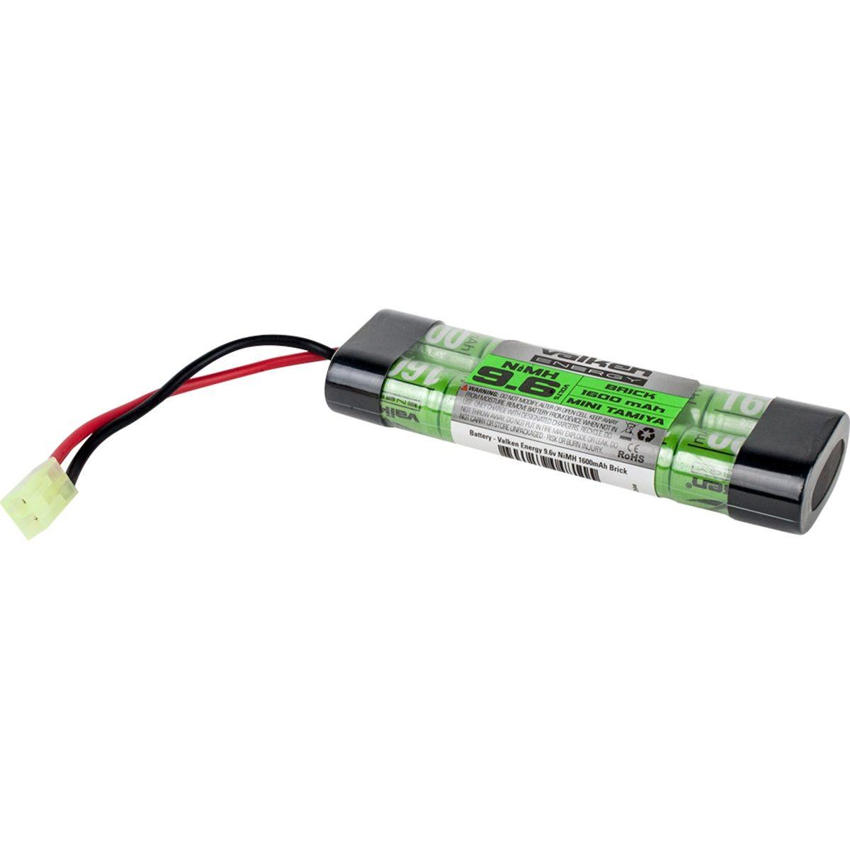 Valken Energy 9 6v 1600mah Nimh Mini Brick Battery Nimh Airsoft Battery Battery Maintenance