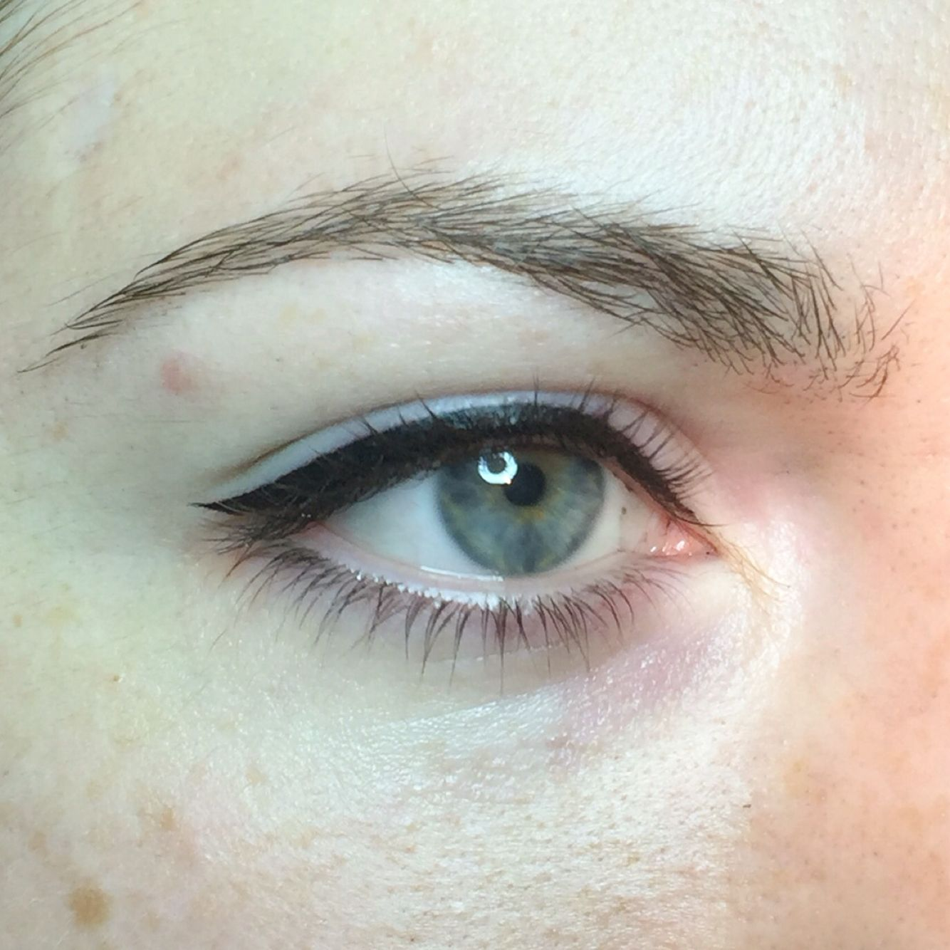 Immediately after procedure Подводка для глаз