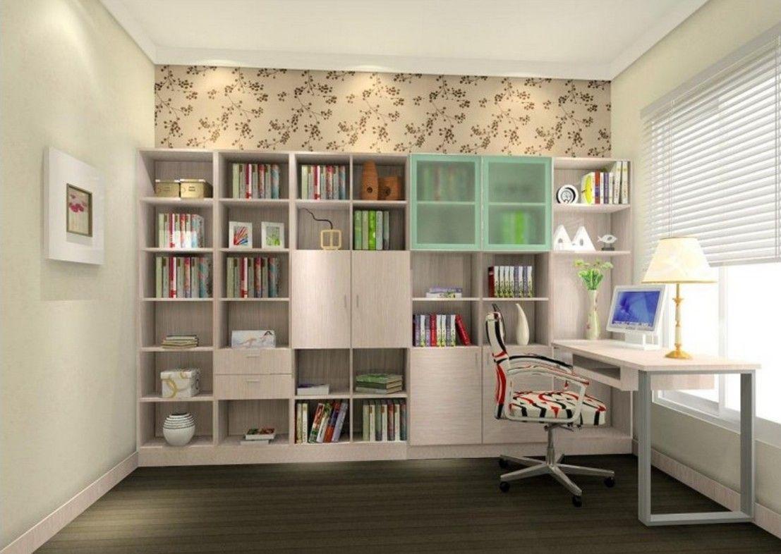 Bookcase And Wardrobe Combination