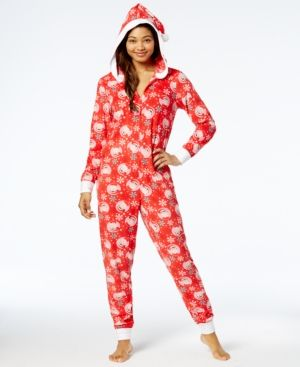 43207e1bdf Briefly Stated Elf on the Shelf Hooded Pajama Union Suit - Red XL ...
