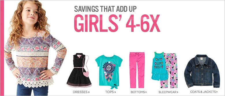 06b4e2a7503 Girls' Clothing Size 4-6X: Maxi Dresses, Shorts & Jeans - JCPenney ...