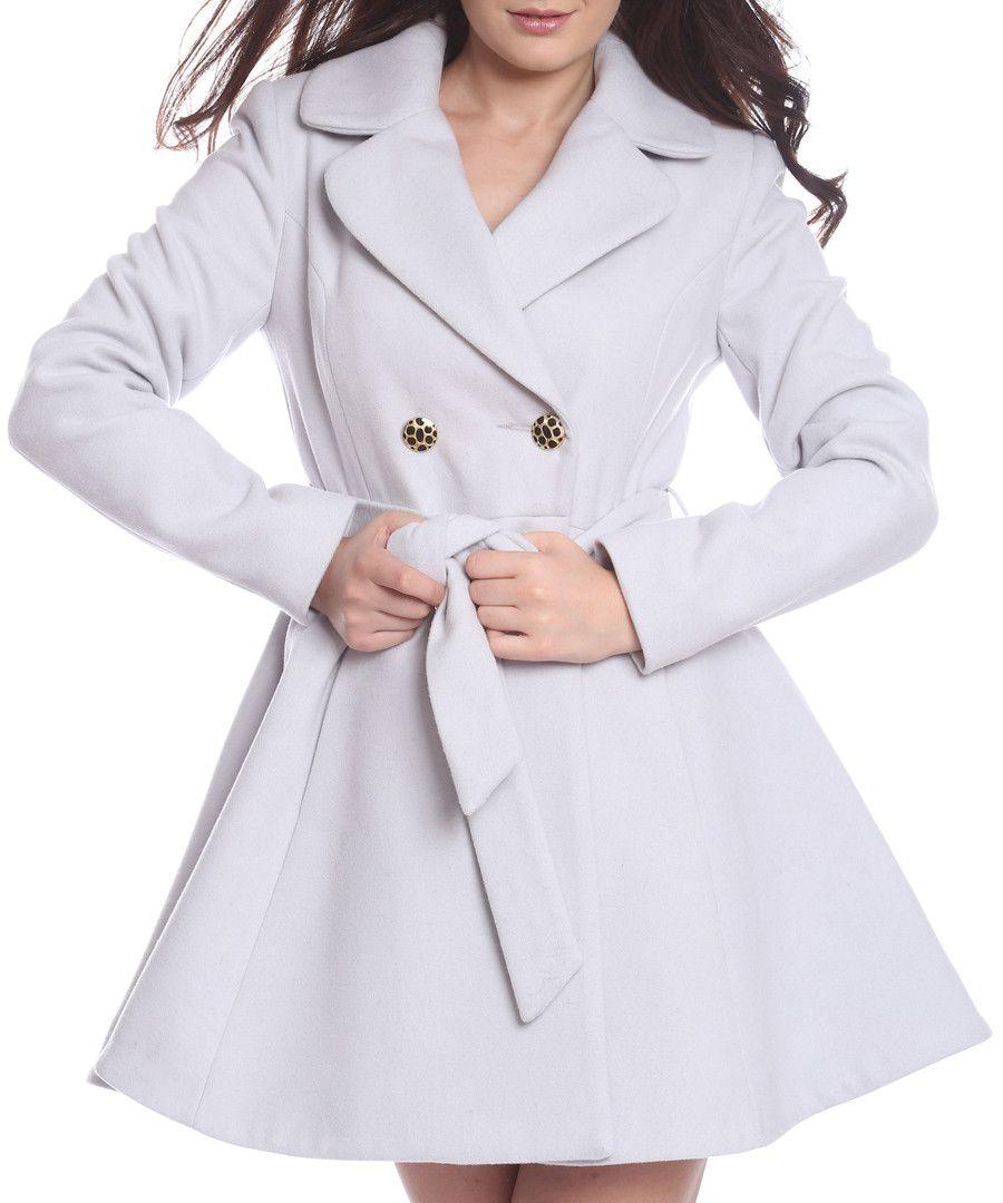 Light grey wool blend skater coat Sale - Vera Ravenna | Coats and ...