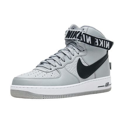 online retailer fd921 21006 NIKE Air Force 1 High  07 Men s high top sneaker Adjustable ankle strap  with large NIKE branding Leather upper lace closure Perforated toe box for  ...