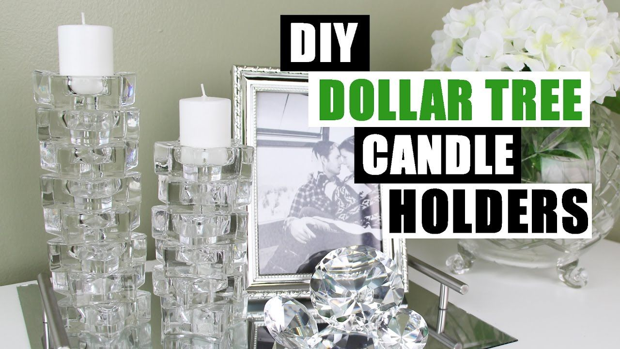 Diy dollar tree candle holders dollar store diy candlesticks decor