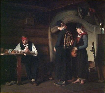 """Carl Sundt-Hansen:  """"After the Fight"""",1882, oil on canvas, Dimensions:58 x 65 cm, National Gallery (Norway) Oslo."""