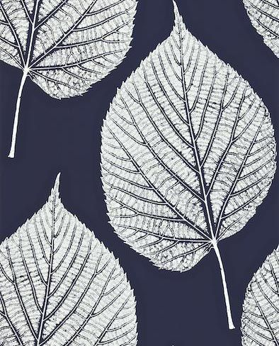 leaf by harlequin white midnight
