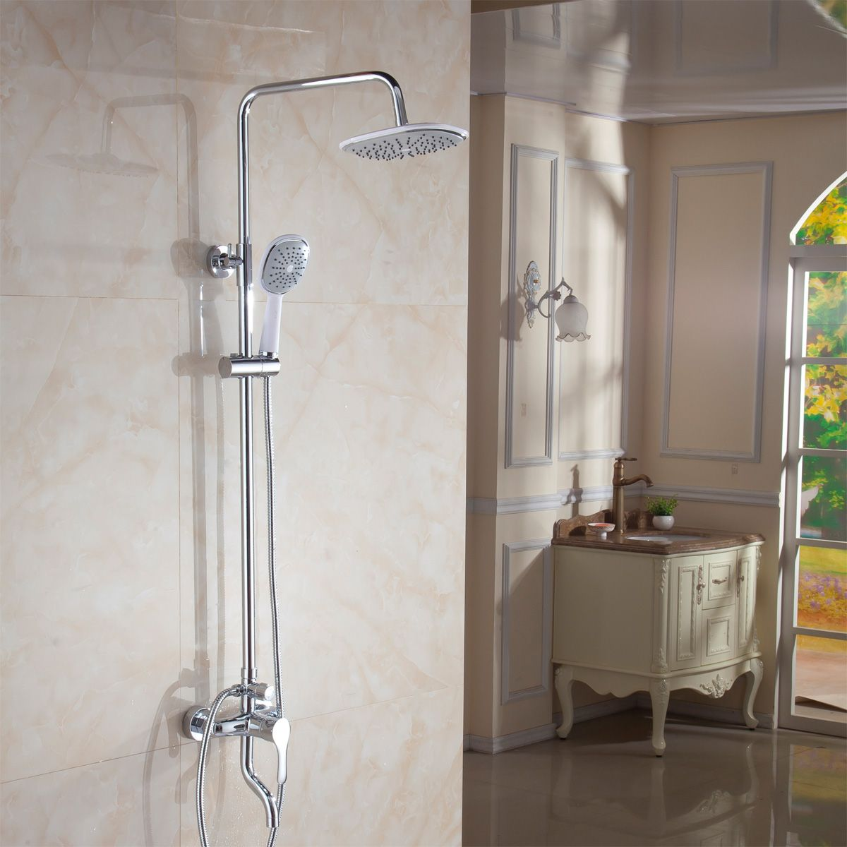 The Bright Sun Rain Shower Copper Set Off Water Toilet Shower ...