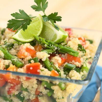 Ensalada de Quinoa y espárragos.   Grandmother's Kitchen