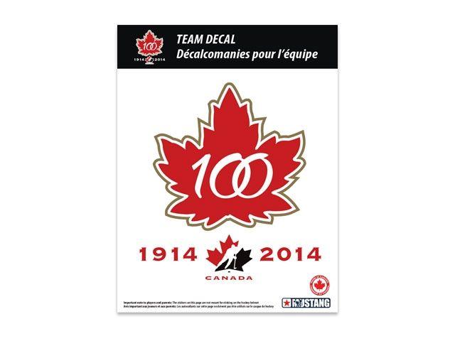 Hockey Canada Online Store Team Canada 100th Anniversary Decal Canada Hockey Team Canada Team Decal
