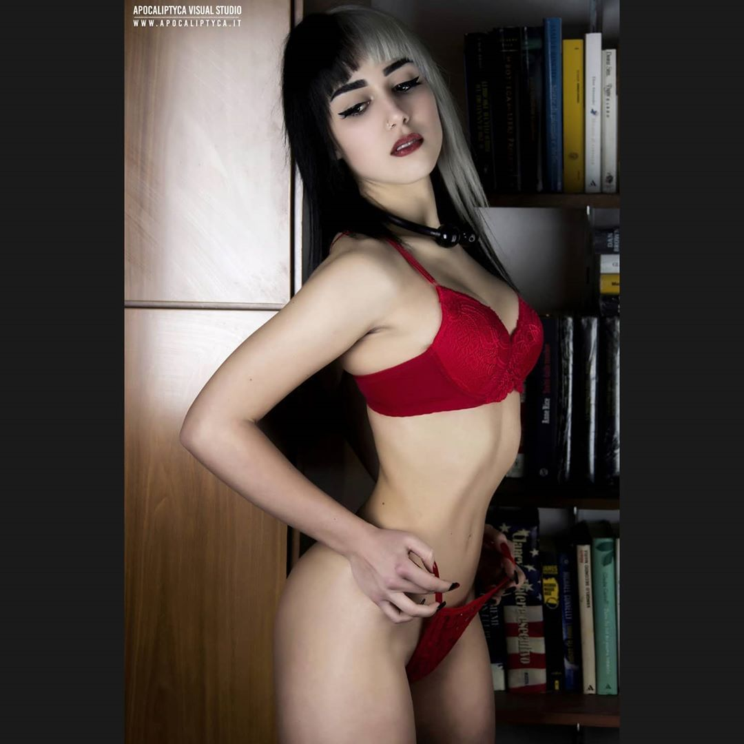 12/12 . . . . . #lingerie #boudoir #underwear #glamourshots #portrait_universe #photomodel #sensual #choker #altmodel #emogirl #egirl #gothgirl #alternativemodels #piercing #palegoth #splithair #makeup #model #italian_portraits #blackandwhitehair #alternative