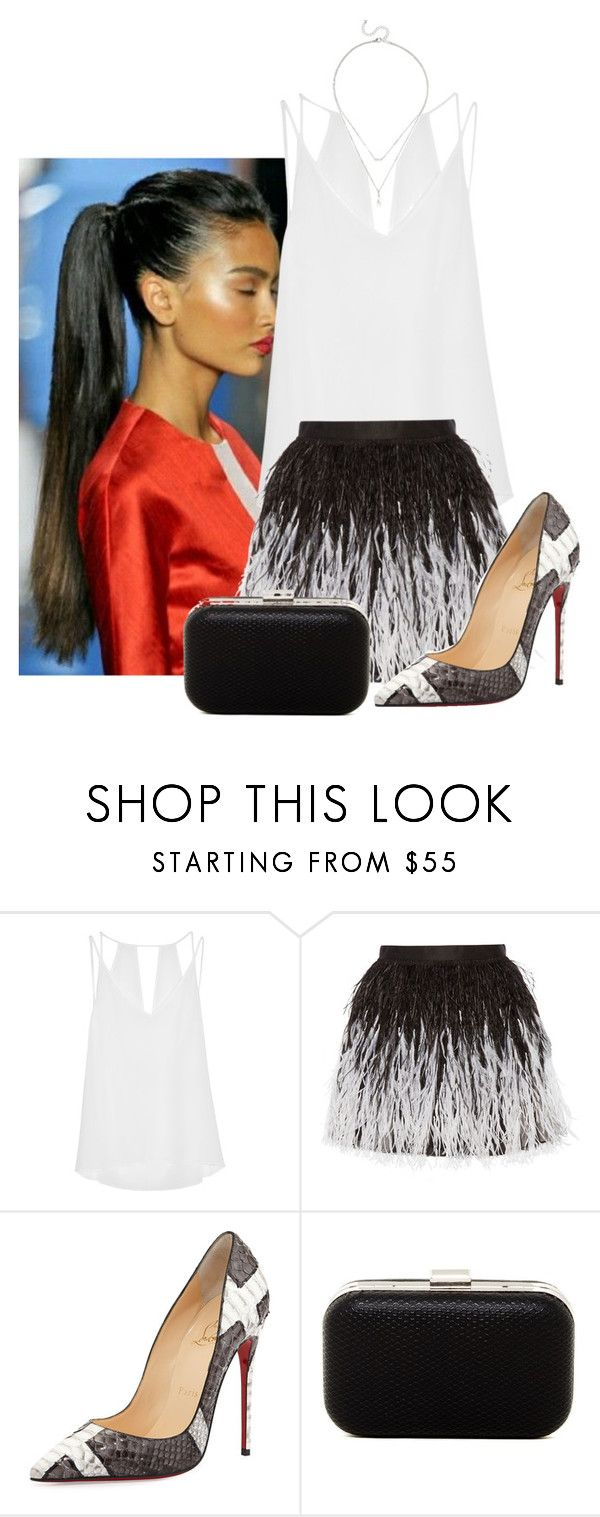 2016/631 by dimceandovski on Polyvore featuring Alice + Olivia, Sandro, Christian Louboutin, Jessica McClintock and LULUS