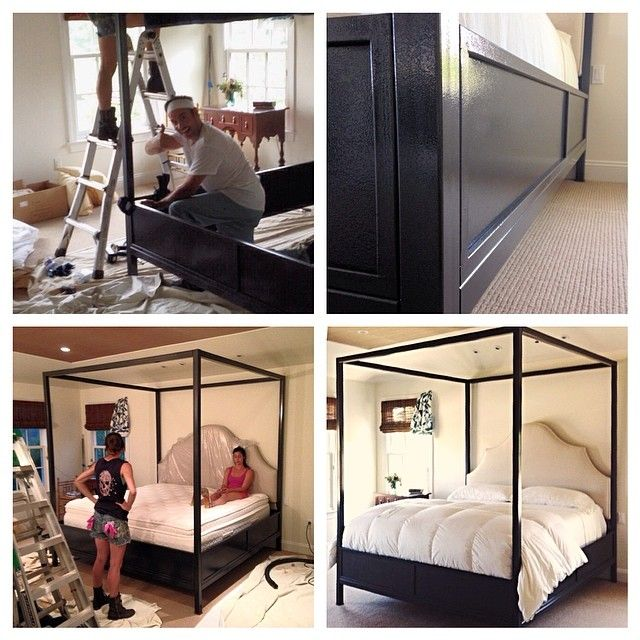 Custom Canopy Bed custom oversized king canopy bed with solid wood platform, custom