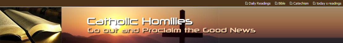 Catholic Homilies Resources for Sunday and Weekdays of the
