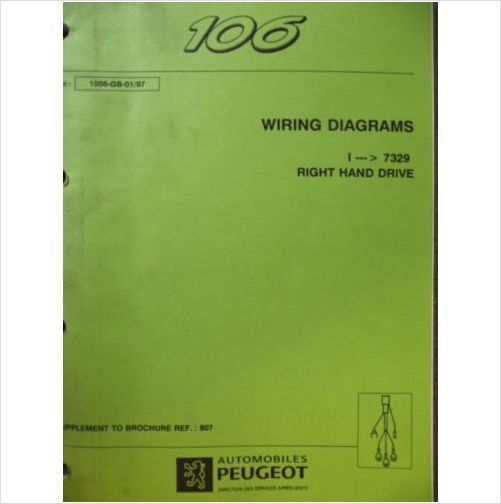 Peugeot 106 Wiring Diagram Manual 1056 97 On Ebid