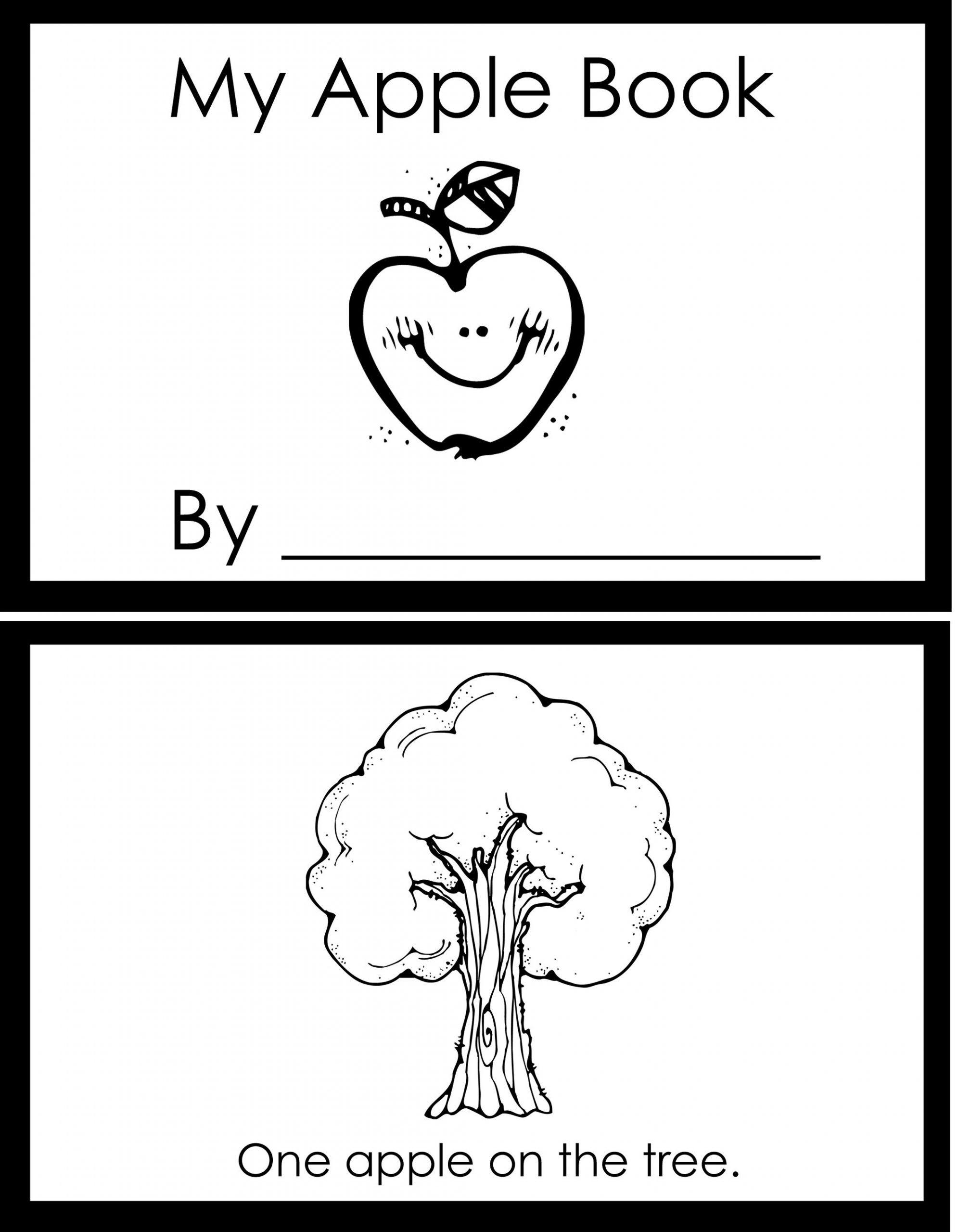 Apple Worksheets Kindergarten In