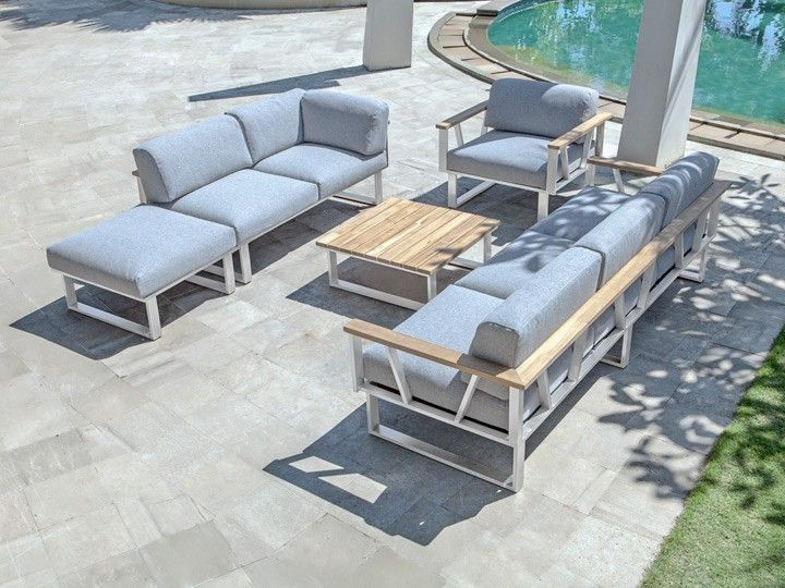 belvedere lounge garten sofa 3 sitzer f r gartenset zebra. Black Bedroom Furniture Sets. Home Design Ideas