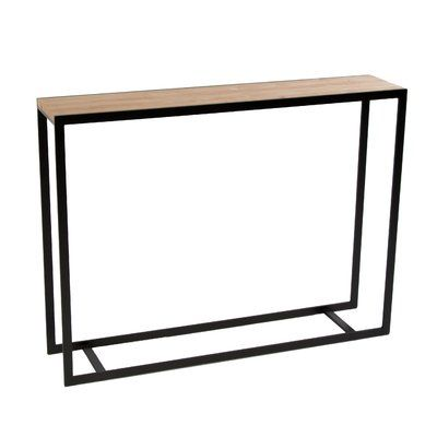 Sterk Furniture Company Ansted Console Table Color Medium Iron Size 28 H X 58 W X 10 D Wood Type Maple Console Table Skinny Console Table Solid Wood