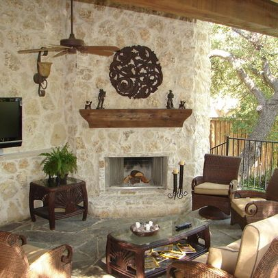 Texas Hill Country Interiors | Hill Country Style Outdoor Living Area  Design Ideas, Pictures .