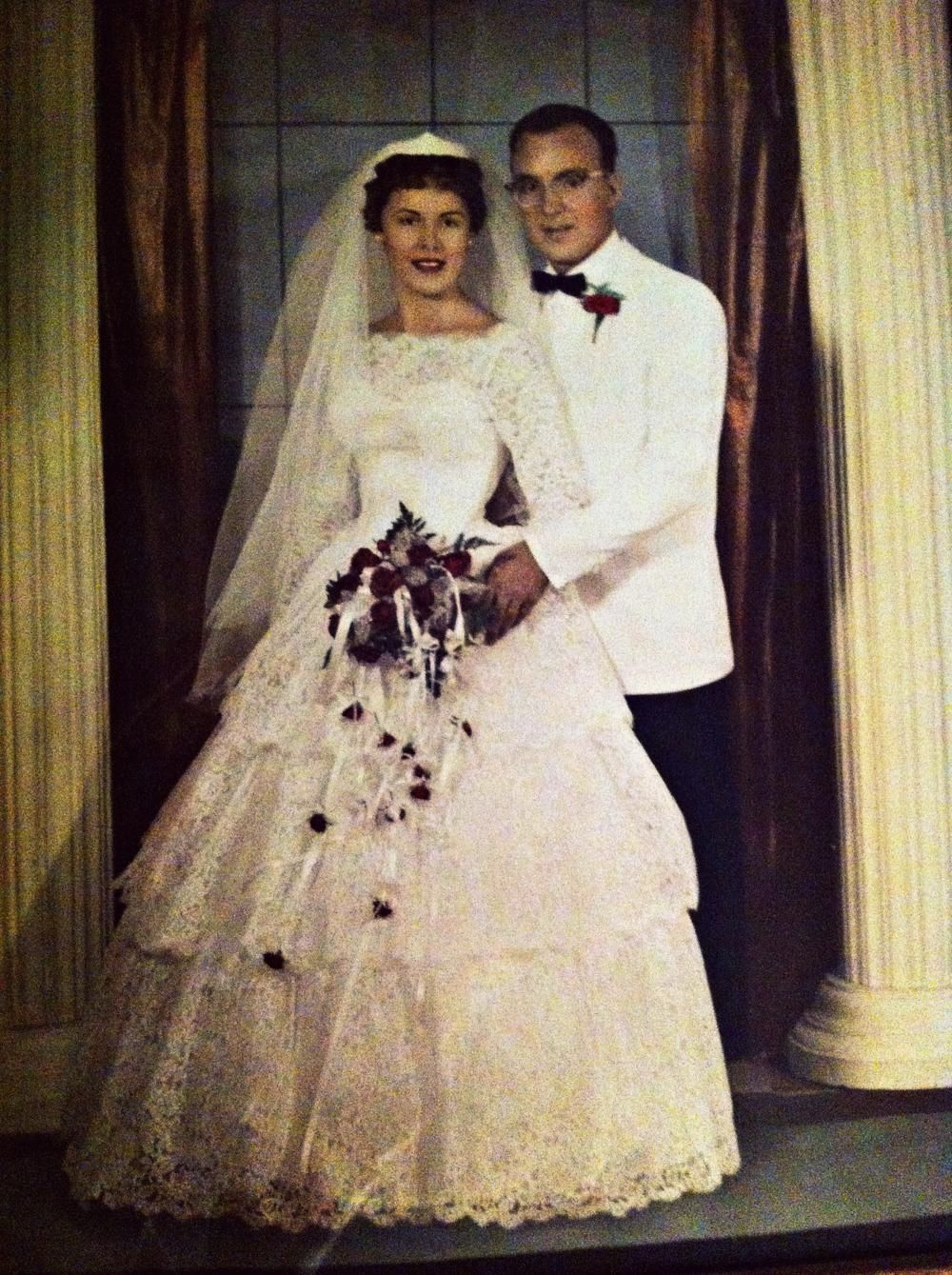 My grandparents wedding picture. (Maine, 1958) | Wedding pictures ...
