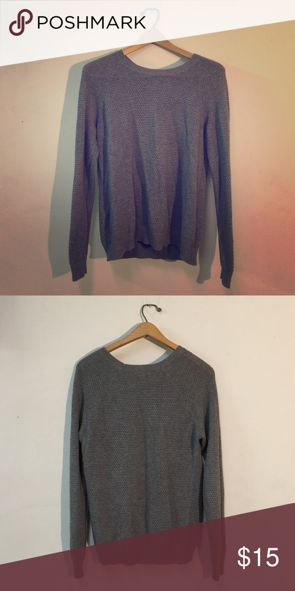 Old Navy Soft Grey Sweater - Tight Knit One of my favorites but doesn't fit as well anymore. It's soft and cozy, and warm but not too warm! Old Navy Sweaters Crew & Scoop Necks