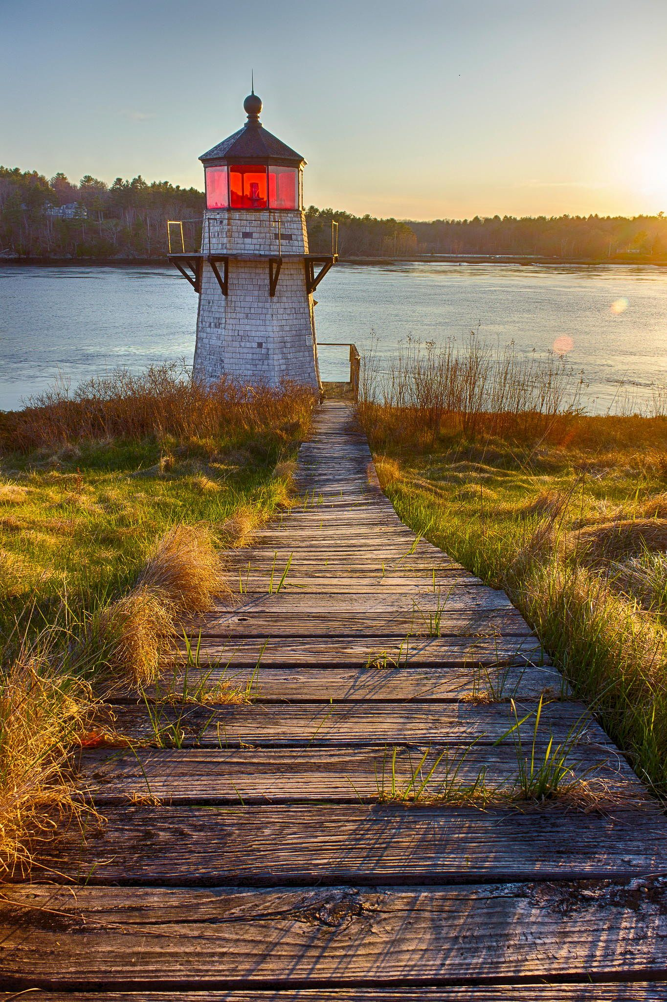 lighthouse, squirrel point, maine