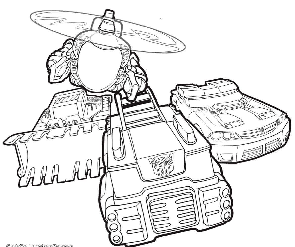Transformers Rescue Bots Vehicles Coloring Page | Coloring ...