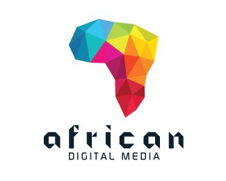 AFRICAN DIGITAL MEDIA Logo design - This logo is ideal for a business related to: African media, multimedia, design agency, information technologies, ommunication, telecommunications, internet, streaming, web, software and app development, new and digital media, event organizations, social media sites, design studios, etc. Price $1999.00