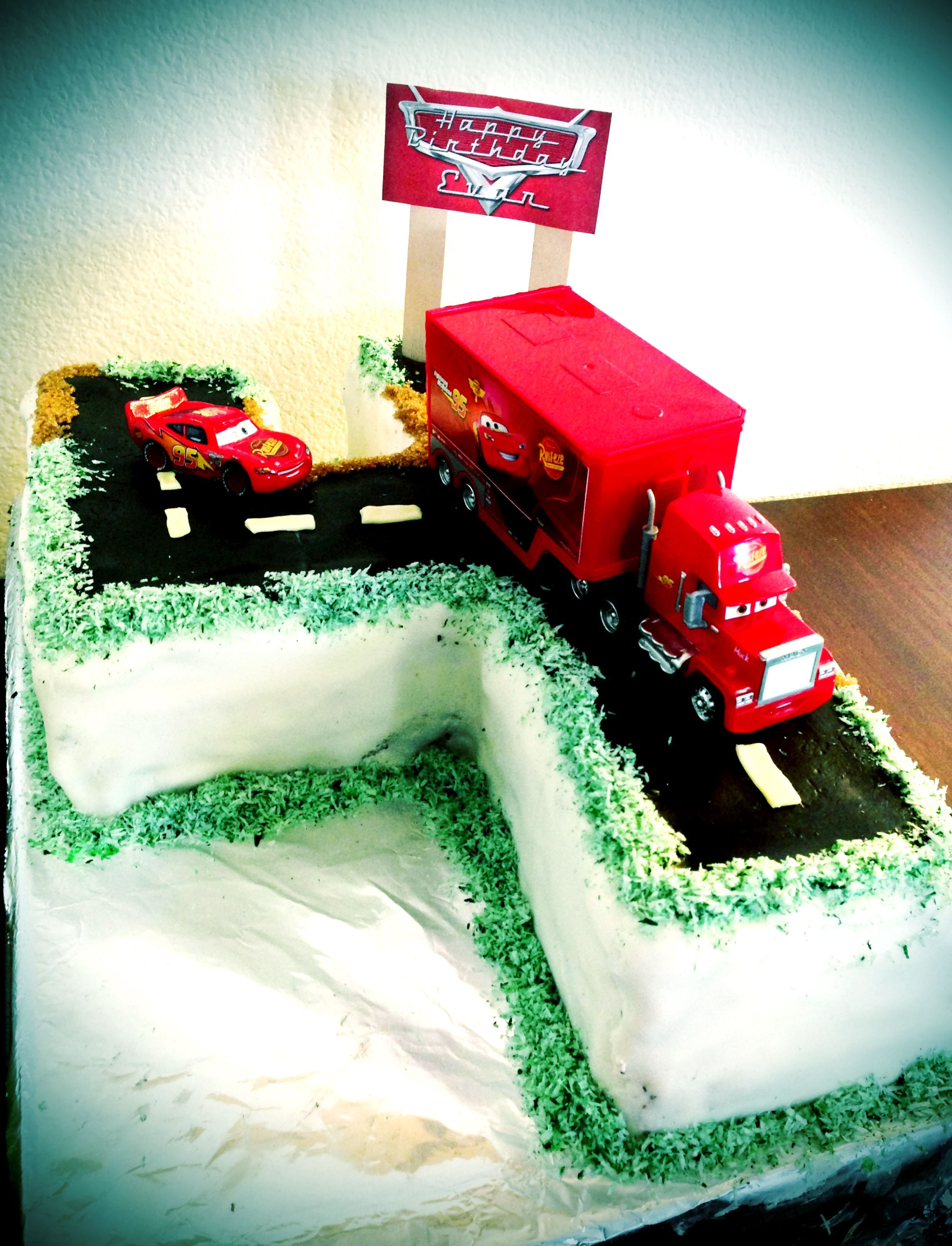 Gluten Free Cars Cake I Made For My 4 Year Old
