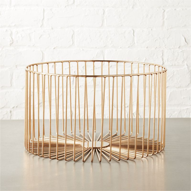beam medium copper basket | Clutter, Beams and Towels