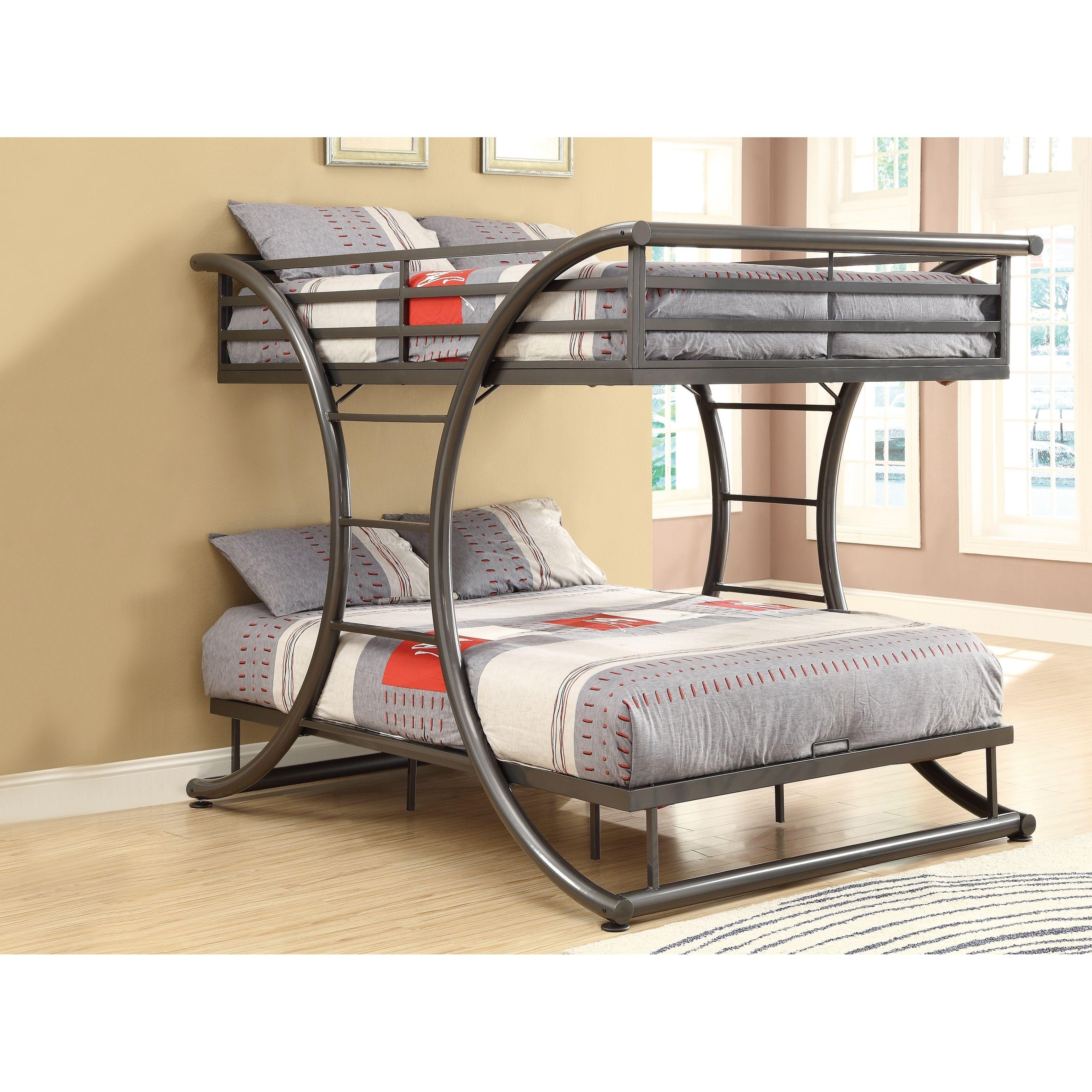 Coaster Stephan Full Over Full Metal Bunk Bed Grey