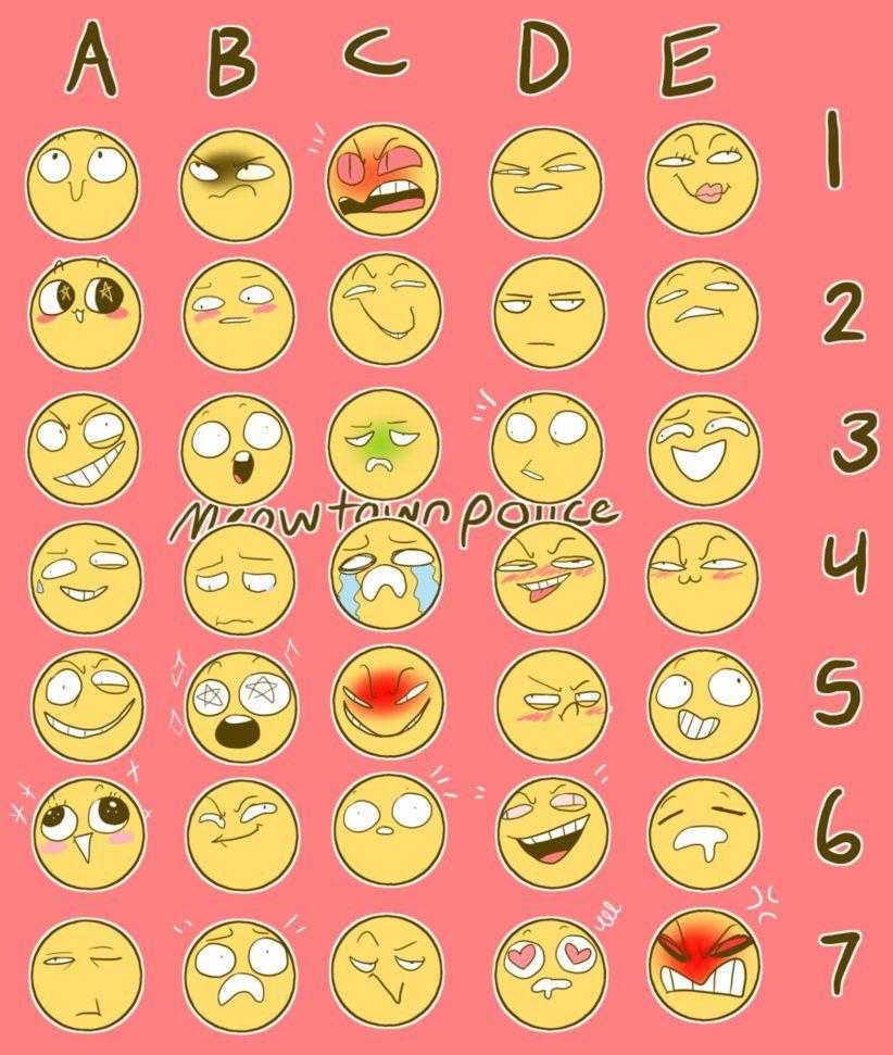 Emoji Challenge Drawing Expressions Drawing Meme Emotion Faces