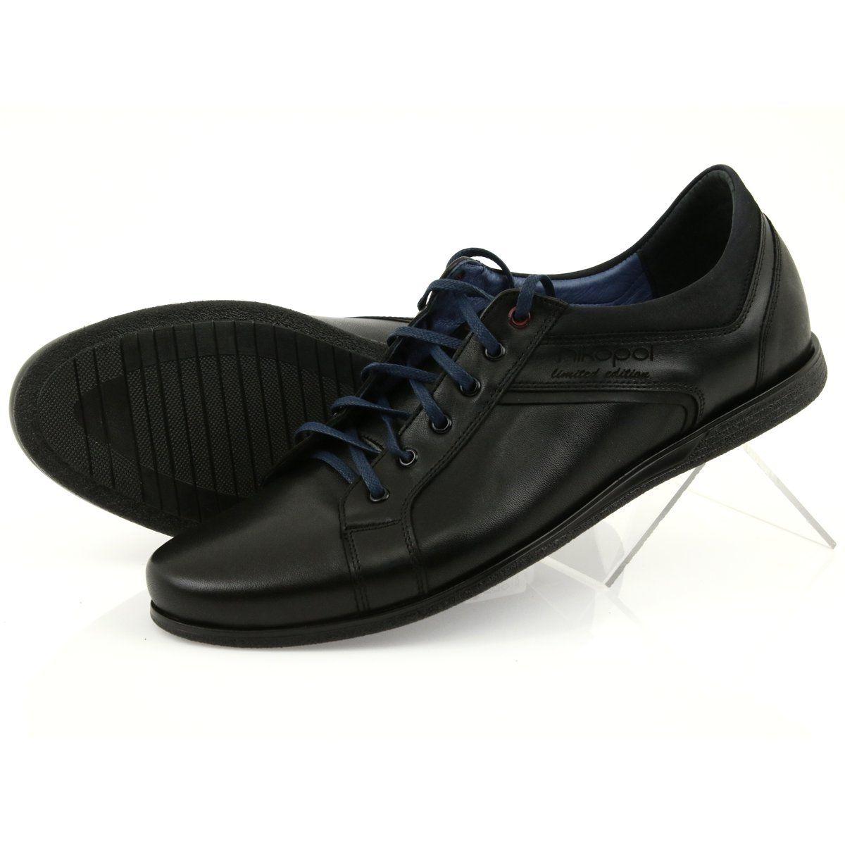 Polbuty Meskie Sportowe Nikopol 1703 Czarne Dress Shoes Men Dress Shoes Oxford Shoes