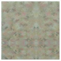 Sage Green and Pink Digitally Hand-Marbled Fabric