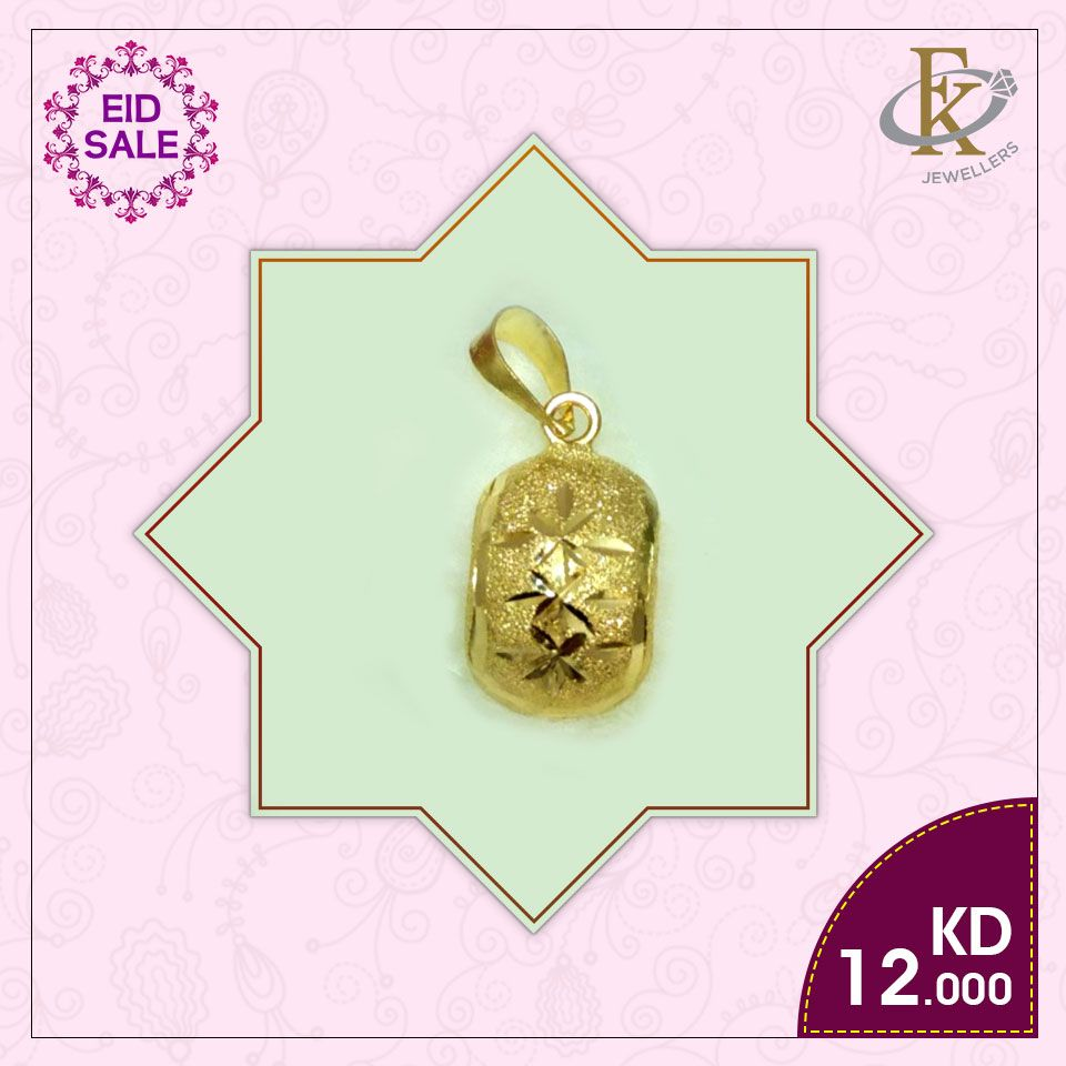 Eid Sparkle This Festive Season And Beyond With Stunning Gold Pendant Free Shipping Price 12 Kd Weight 0 500 Grams Karat 18 How To