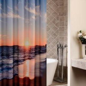 Beach Home Decor Beach Shower Curtains Beach Theme Bathroom Nautical Shower Curtains