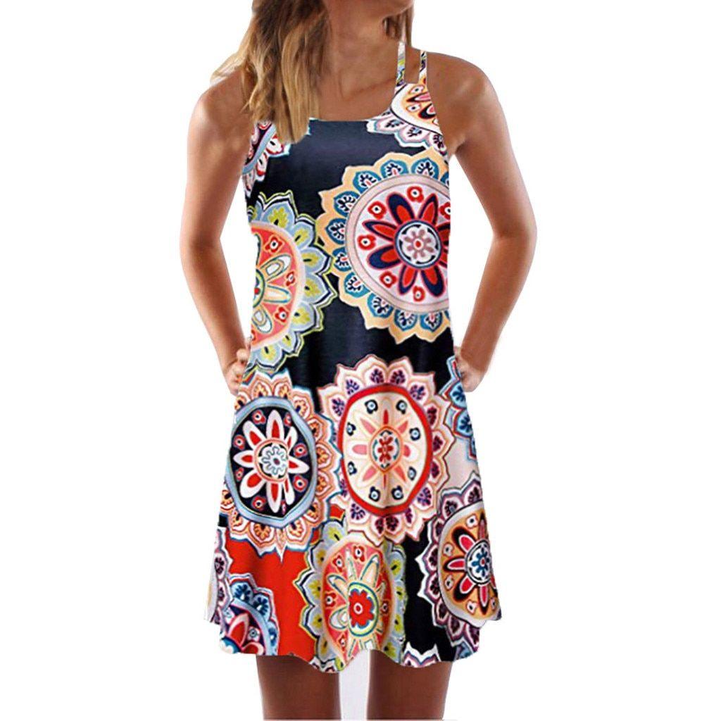 Photo of vestido de mujer Vintage verano sin mangas – SHOPLINE