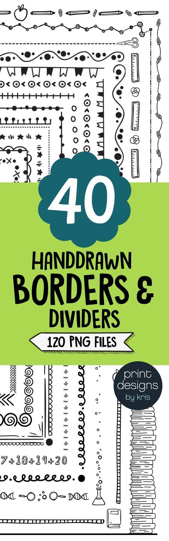 Borders clipart u worksheet borders frames u dividers u print