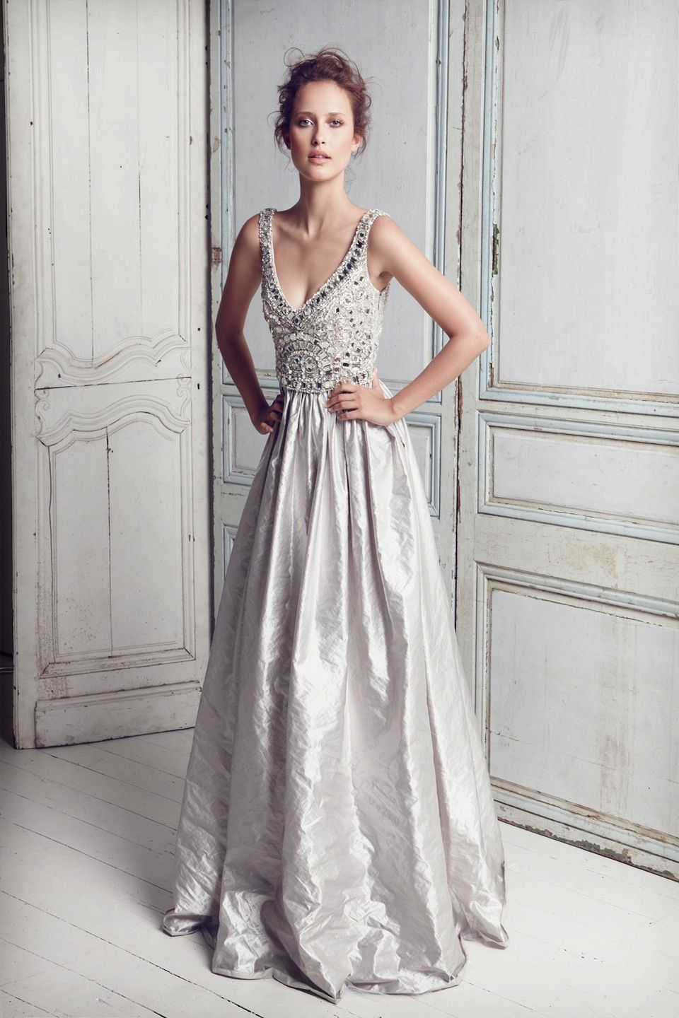 Grey wedding dress creative colour pale grey weddings