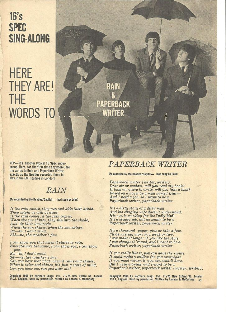 The Beatles, Full Page Vintage Clipping