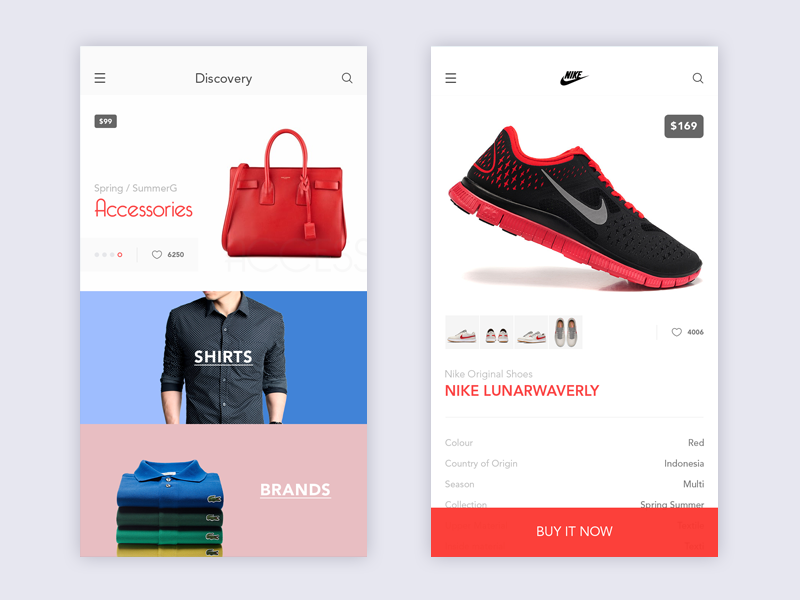 Clothes Designing Apps | Clothing Store Mobile Ui Inspiration