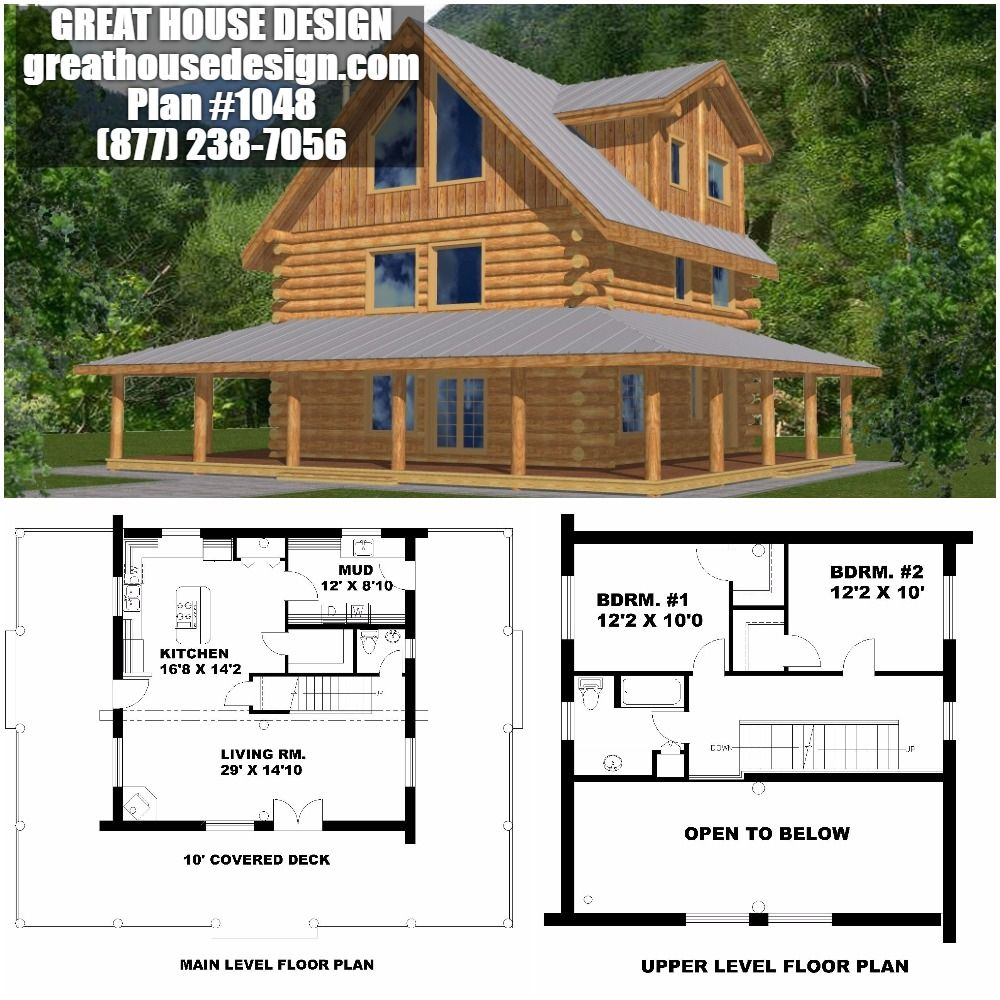 Home Plan 001 1048 Home Plan Great House Design Log Cabin Floor Plans Floor Plan Design House Plans