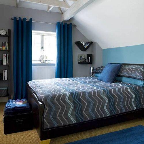 Lovely Bedroom:Blue Bedroom Design Ideas: Perfect Interior Combination! Simple Blue  Bedroom Designs #