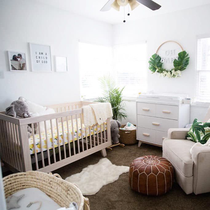 So Many For This Modern Boho Nursery With A Punch Of